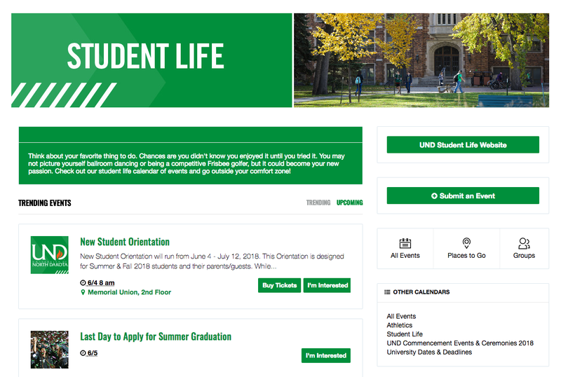 UND Student Life Channel