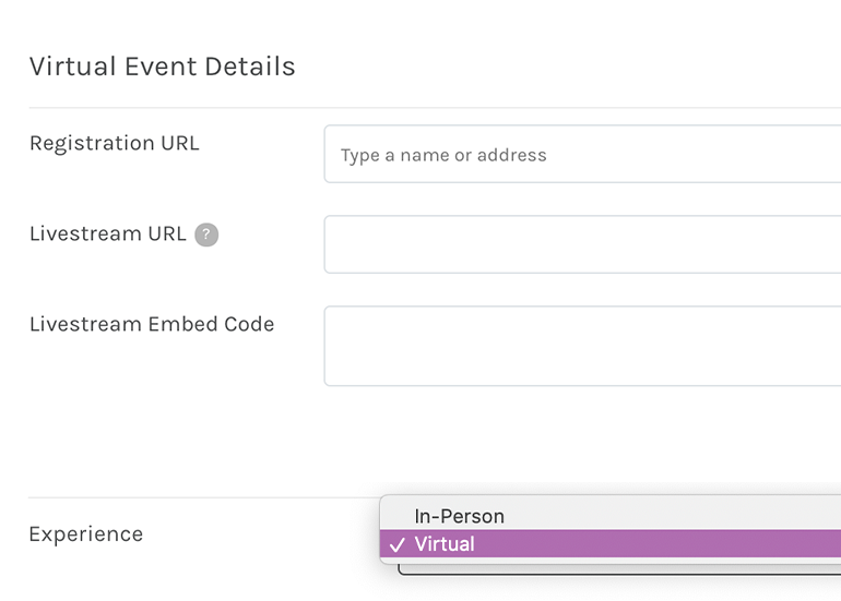 Virtual Event Experience