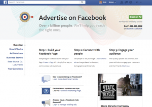 Facebook ads page