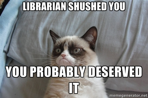 Is Your Library Too Quiet?_Cat_Meme