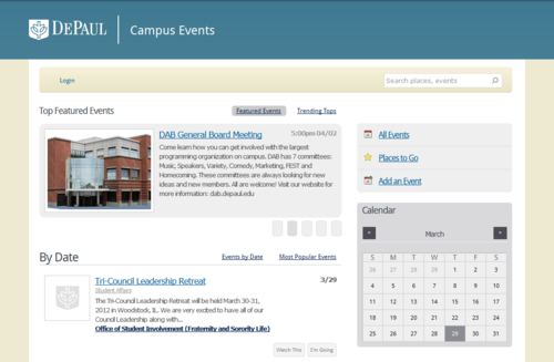 Depaul Calendar.Depaul Engages Students With A Localist Events Calendar