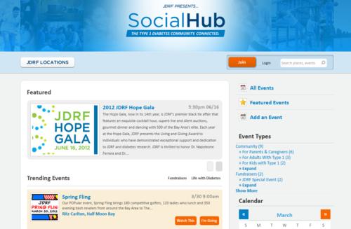 View the JDRF Social Hub.